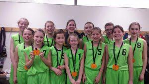 Trotz allem gab es am Ende des Turniers selbst gemachte Medaillen für alle Spielerinnen.